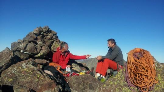 [Alpinisme en Corse] Détente après la voie Finch au Paglia Orba