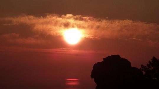 coucher de soleil depuis les crêtes du Cap Corse