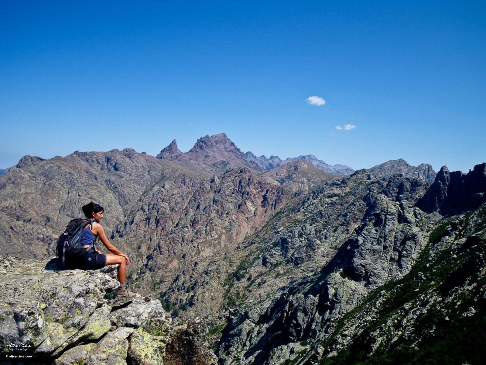 découverte du GR20 nord. Panorama depuis Capu â Cuccula