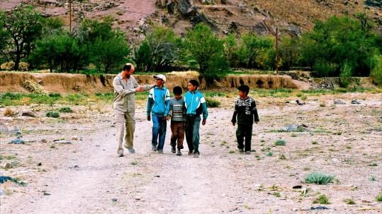 Les enfants du village de Tamlakout
