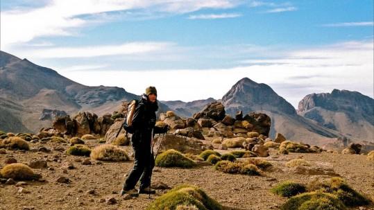 en redescendant du sommet du Jebel Sirwa