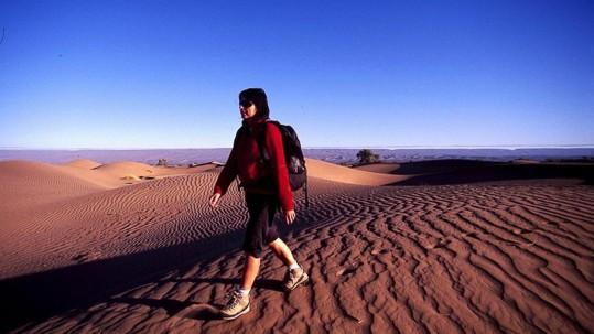 marche sur les dunes