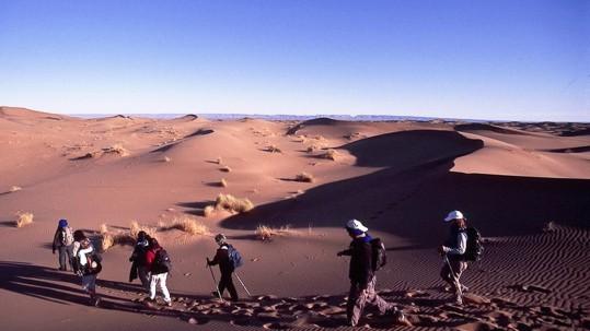 cheminement entre les dunes