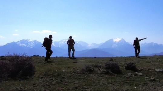 Sur le plateau du Tenda, face au Monte Padru
