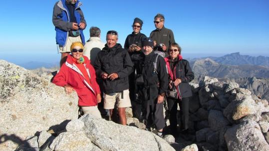 Le groupe au sommet du Monte Ritondu - Randonnée GR20