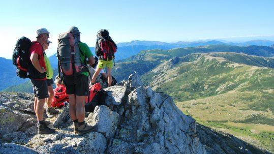 Randonnee GR20 - Contemplation sur les Pozzi et le Monte Alcudine