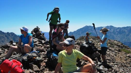 GR20 nord par les variantes - Le groupe au sommet du Monte Corona
