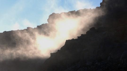 Jeux de lumiere et nuages sur le cap Corse