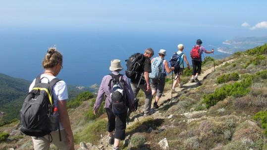 Le chemin des cretes du Cap Corse