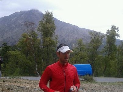 Julien Chorier au col de Verghju