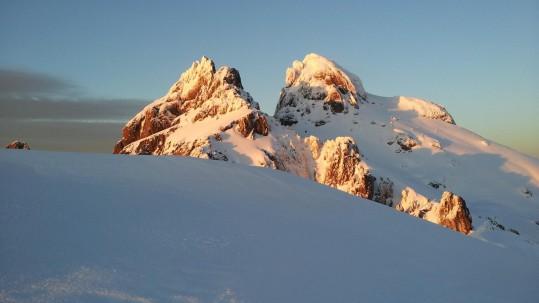[Raquettes à Neige Corse] Coucher de soleil sur Paglia Orba et Capu Tafunatu