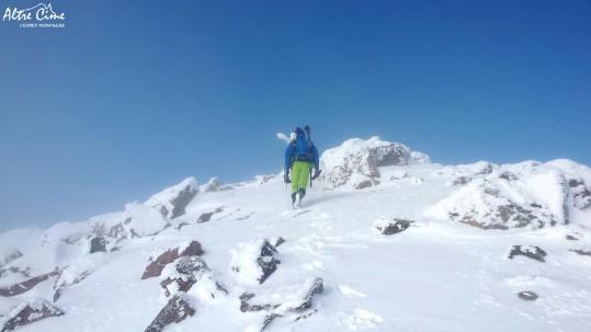 Arrivée au Monte Cintu