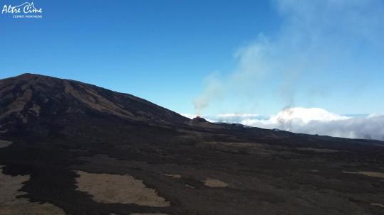 Le volcan en éruption