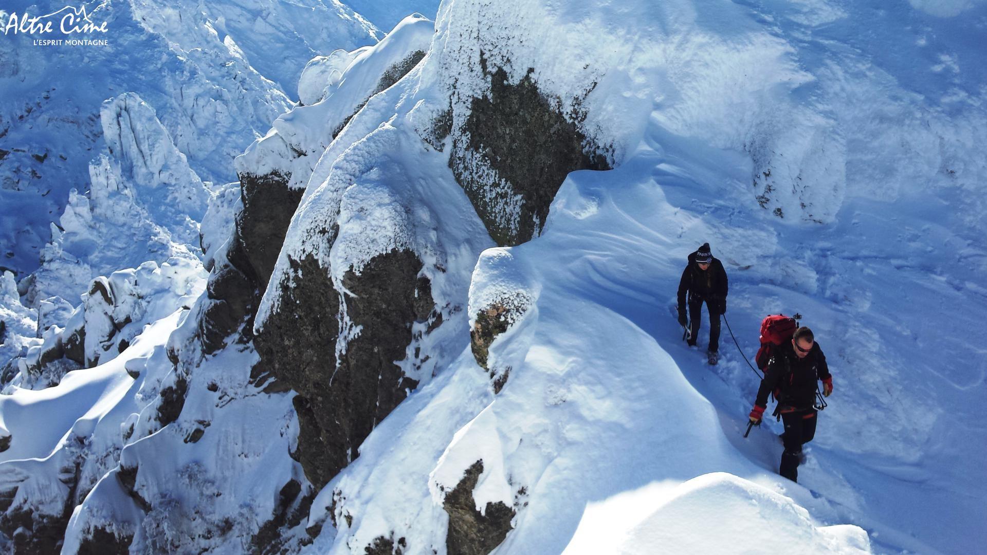 [Alpinisme en Corse] Passage délicat juste sous le sommet