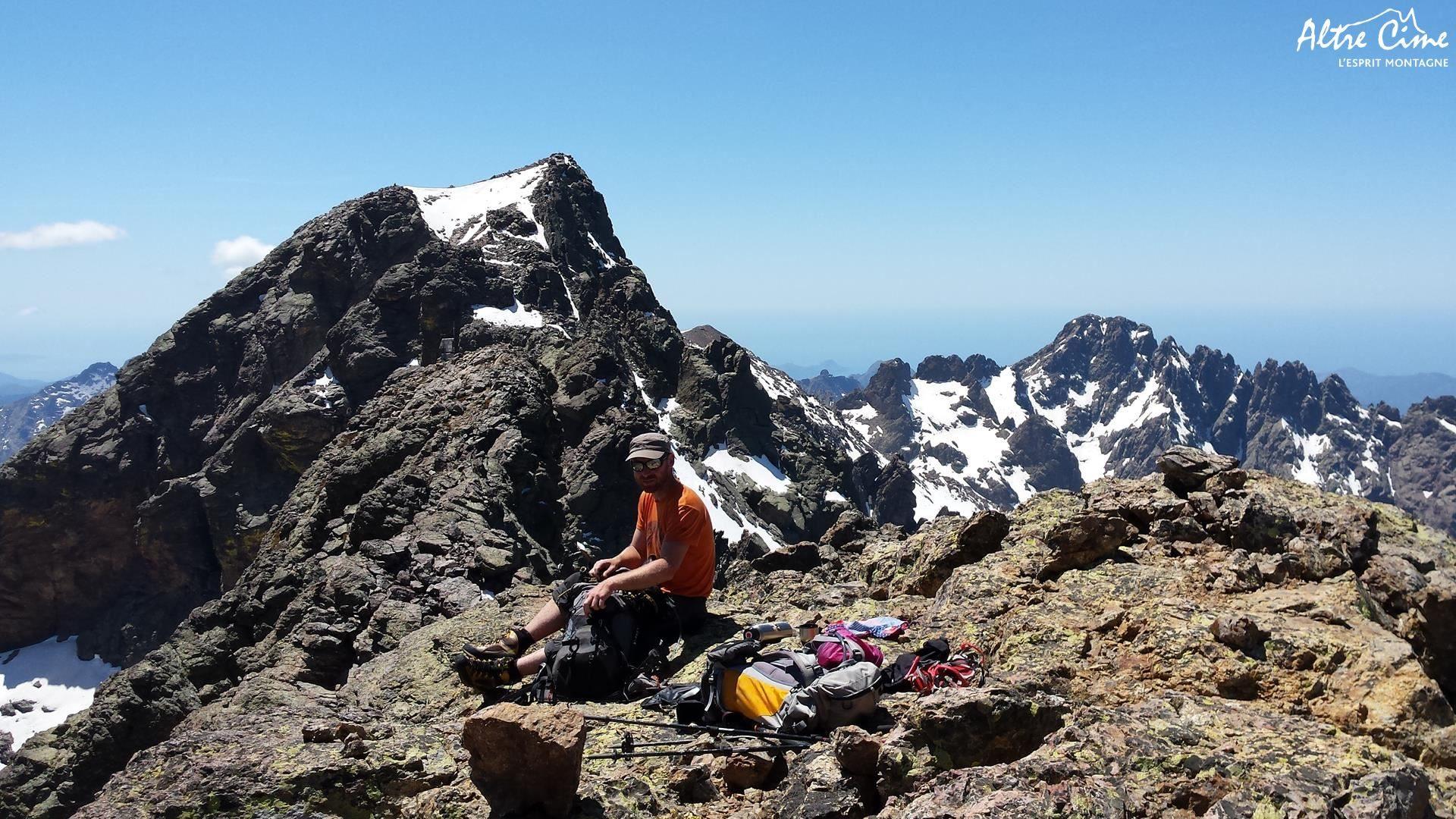 Spuntinu au sommet du Ciuntrone, le 2° sommet de Corse