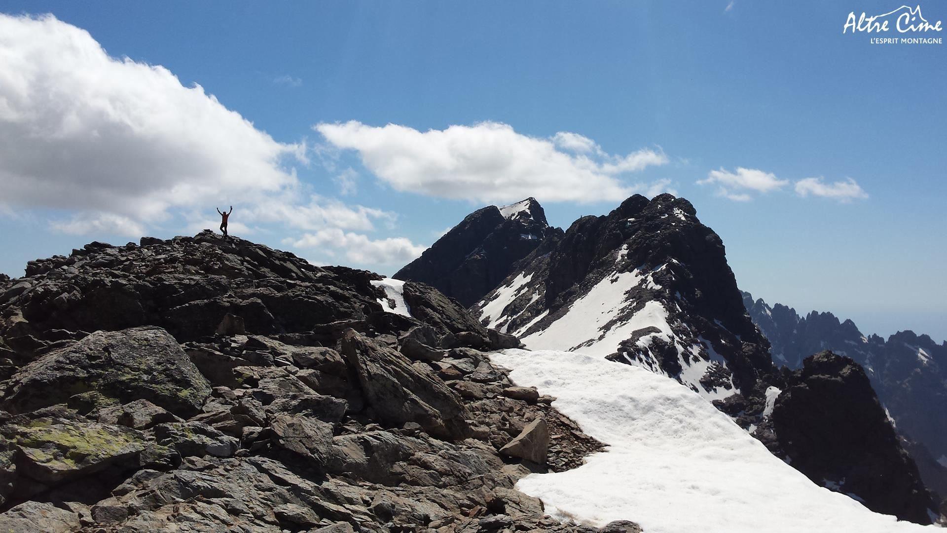 Sommet du Selula et Monte Cintu en toile de fond