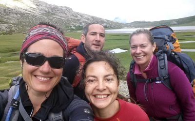 L'équipe au lac de Ninu
