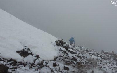 Arrivée à Bocca Crucetta sous la neige