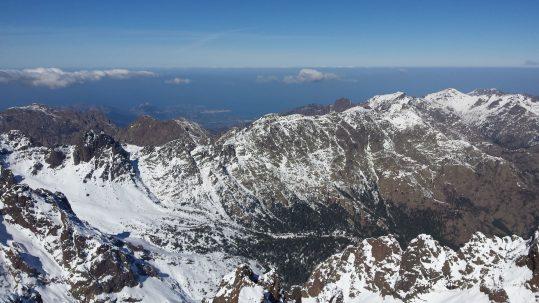 GR20 Nord - Vue sur la vallée d'Ascu et la Balagne