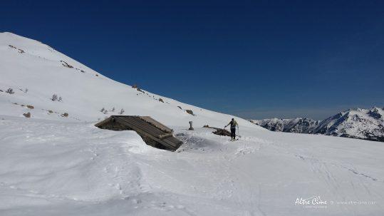 GR20 Sud en hiver - Bergerie des Pozzi