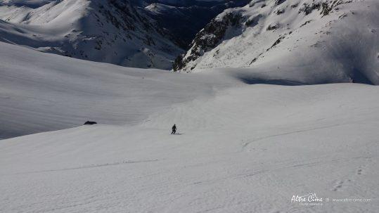 GR20 Sud en hiver - Descente sur Bocca della Cagnone