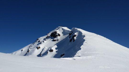 GR20 Nord - E Ghjarghje Rosse -Pointe des Eboulis sous la neige