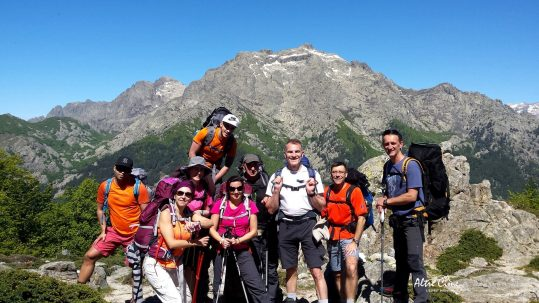 Monte d'Oru en toile de fond