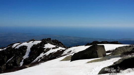 Vue sur la Plaine Orientale et l'île de Montecristu