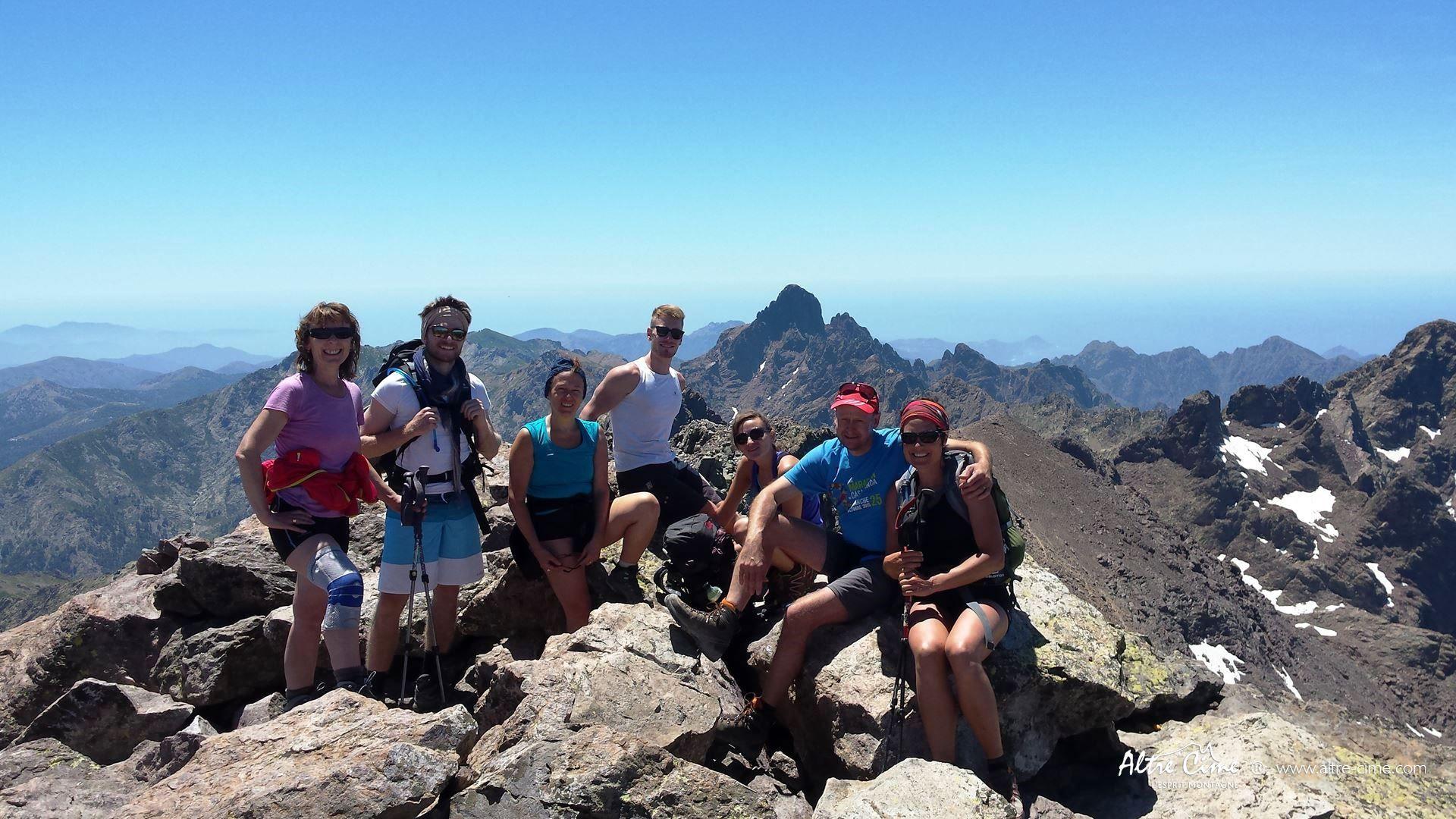 [GR20 Nord] Au sommet du Monte Cintu