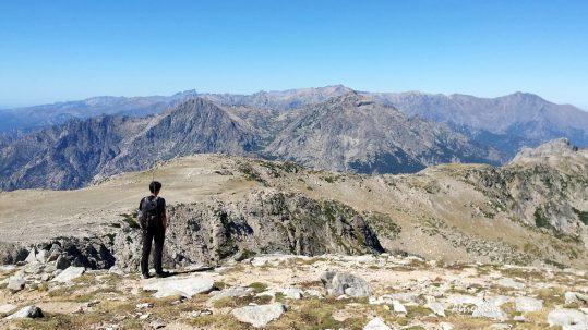 [GR20 Sud] Vue sur le massif Nord depuis le Monte Renosu