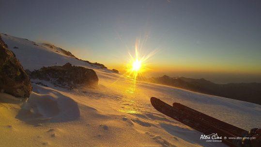 [Ski de randonnée Corse] Coucher de soleil, skis aux pieds !