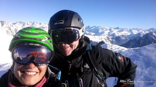 [Ski de randonnée] Vue sur le massif des Ecrins depuis Belledonne