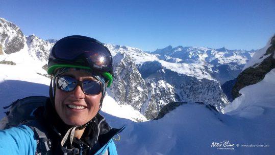 [Ski de randonnée] Vue sur les Ecrins du massif de Belledonne