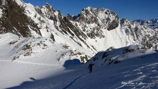 [Ski de randonnée] Col de la Petite Vaudaine dans Belledonne