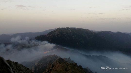 [GR20 Sud] Le feu a passé le col de Laparo