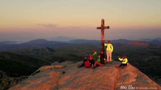 [GR20 Sud] Lever de soleil au sommet de l'Alcudina