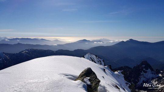 GR20-hiver] Vue sur Ajaccio depuis Bocca Soglia
