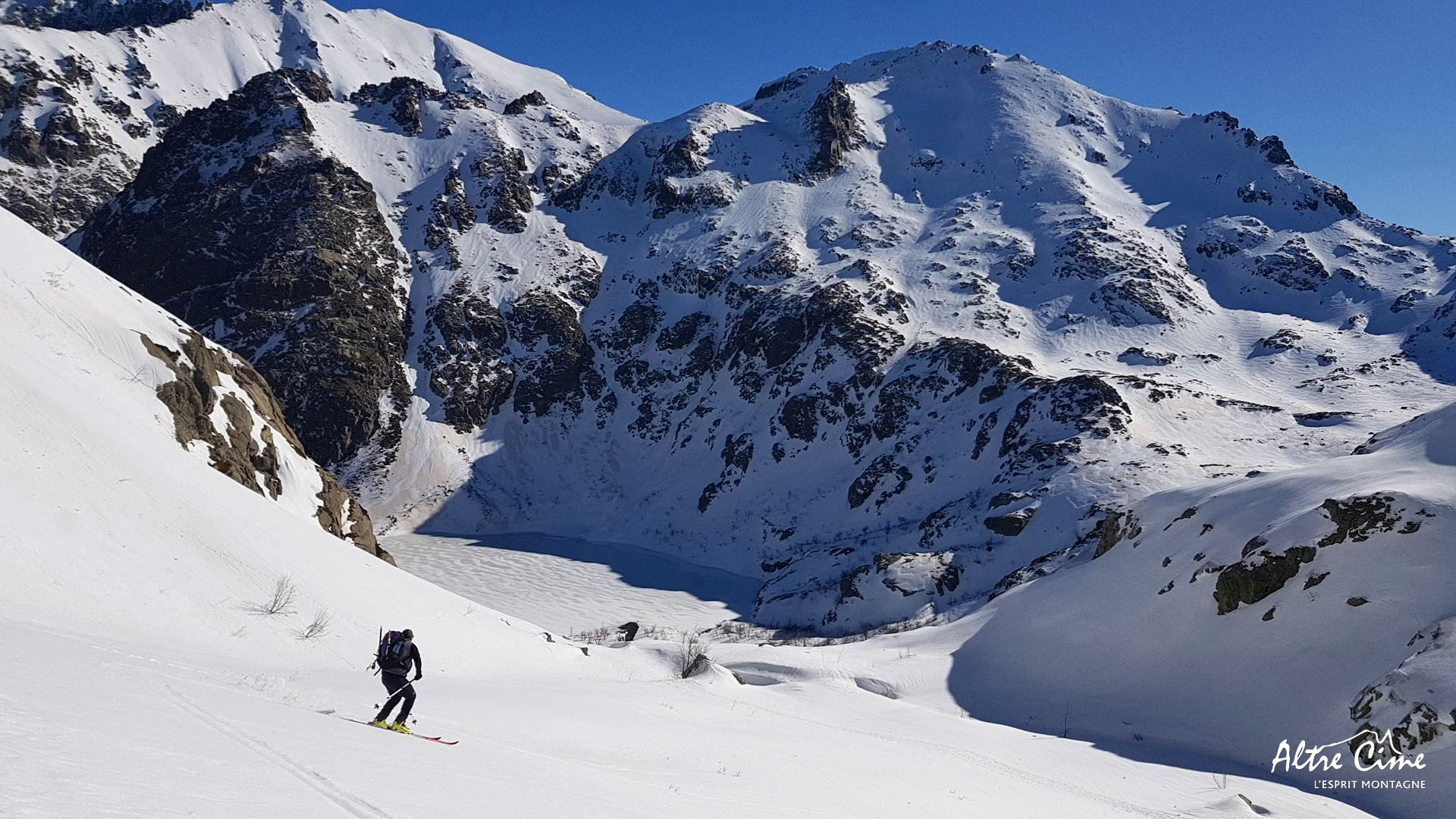 [GR20-hiver] Ski dans la Restonica vers le lac de Melu