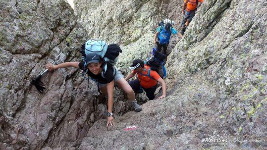 [GR20 Nord] ça grimpe dans la traversée d'Avartoli