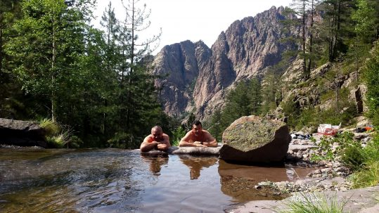 [GR20 Nord] Repos bien mérité dans les vasques de la Spasimata