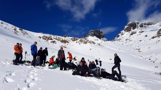 [GR20 Hiver] Une sacrée équipe dans la montée au refuge de Ciottulu