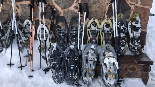 [GR20 Hiver] Raquettes à neige au refuge de Ciottulu