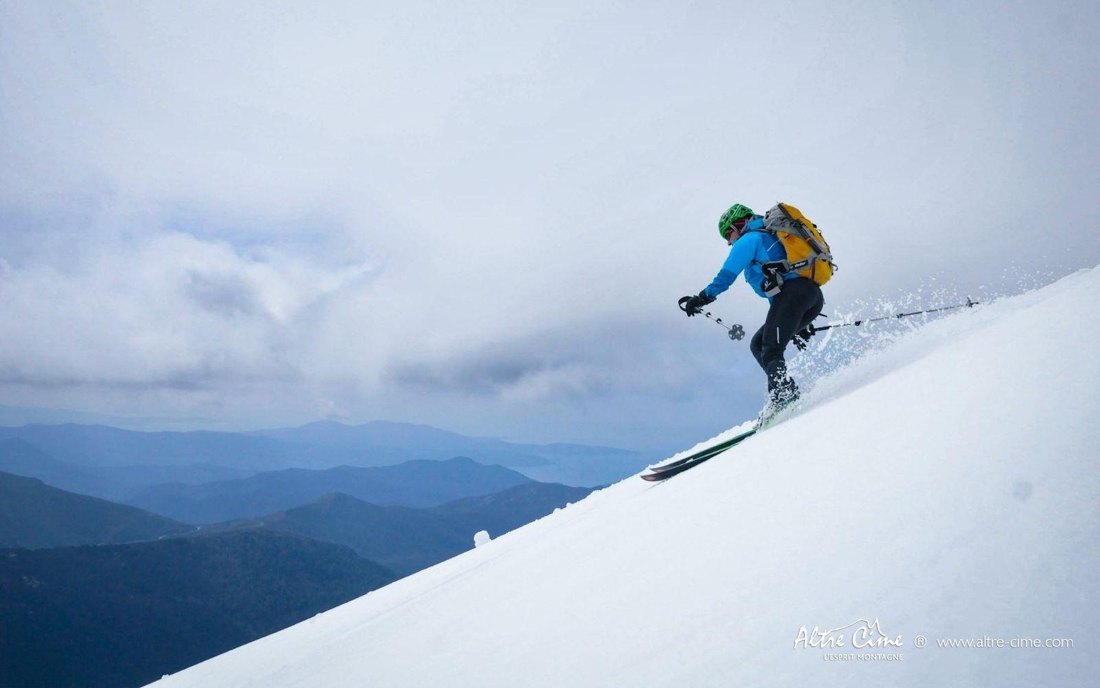 [GR20 Nord] Ski au Col de Verghju