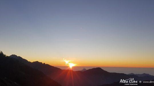 Coucher de soleil depuis le refuge d'Ortu di u Piobbu